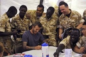 David Beckham: David Beckham in Afghanistan