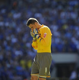 Play Off Final: Cardiff keeper David Marshall can't bare to watch at the end