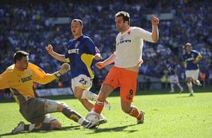 Play Off Final: Marshall saves at feet of Burgess