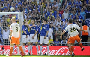 Play Off Final: Charlie Adam fires in a fabulous free-kick from 25 yards to make it 1-1