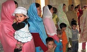 displaced hunza women
