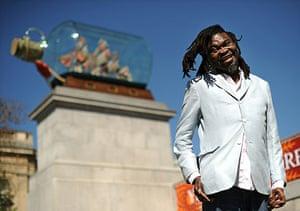 Nelson on fourth plinth: Artist Yinka Shonibare in Trafalgar Square