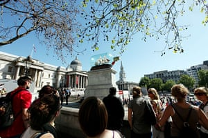 Nelson on fourth plinth: HMS Victory returns to Trafalgar. Fourth Plinth in Trafalgar Square