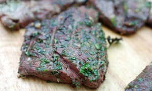 Cooked steaks