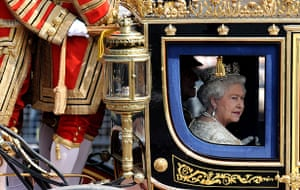 state opening: Queen makes way to Parliament for Queen's Speech