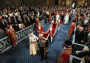 state opening: Britain's Queen Elizabeth and Prince Philip