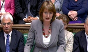 Harriet Harman speaking in the Commons after the state opening of parliament on 25 May 2010.