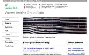 Warwickshire open data