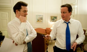 George Osborne and David Cameron in Cameron's office on the night he became prime minister