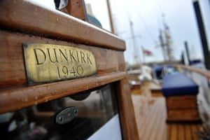 Dunkirk little ships: An original Dunkirk boat prepares to depart for Dunkirk from Ramsgate