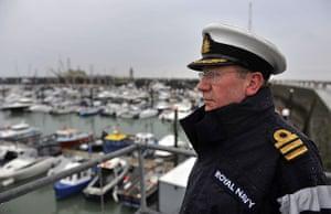 Dunkirk little ships: A naval officer overlooks Ramsgate harbour