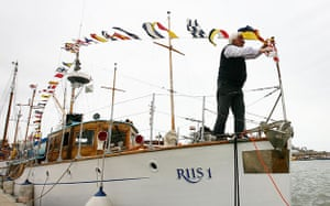 Dunkirk little ships: Alan Jackson prepares his boat Riis 1, one the Little Ships