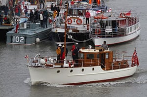 Dunkirk little ships: One of the Little Ships sets sail for Dunkirk, France