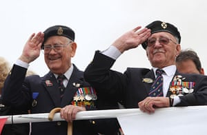 Operation Dynamo: Veterans salute on board a ferry bound for Dunkirk, France