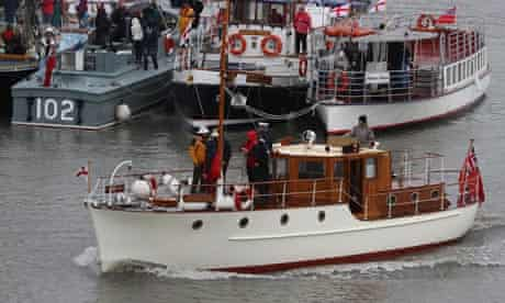 Small boats leave Ramsgate