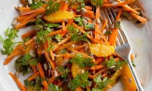 Carrot, orange and chervil salad