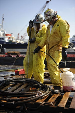 Update oil spill: Deepwater Horizon oil spill: Personnel at the Venice Staging Area