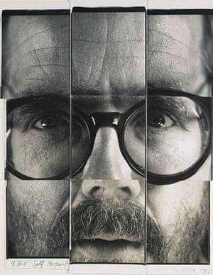 Polaroid Collection: 9 Part Self Portrait by Chuck Close