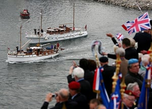 Dunkirk Little Ships: The Little Ships are greeted by veterans as they arrive in Dunkirk