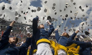 US Air Force Academy cadets celebrate graduation