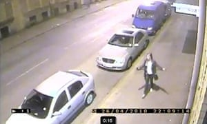 CCTV footage showing Shelley Armstrong walking in Bradford city centre