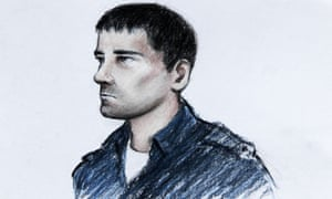 Court artist's impression of Stephen Griffiths, charged with murder of three Bradford sex workers