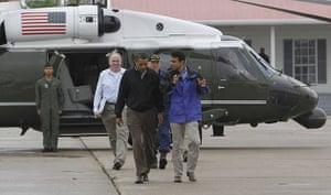 Deepwater Horizon oil rig: Barack Obama, Bobby Jindal, Thad Allen, John Brennan