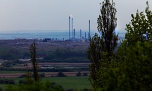 The Pitsea landfill site in Essex, which the RSPB is to manage as a nature reserve