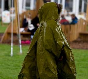 Hay in the rain