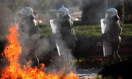 Riot police, Thessalonika