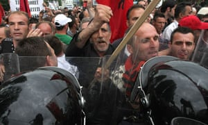 Kosovo Serbia Ethnic Albanians clash
