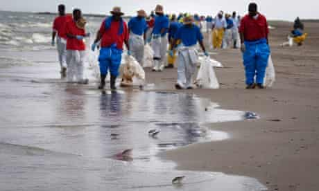 BP clean up operation