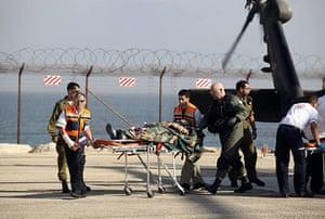 Gaza convoy attack: A pro-Palestinian activist is evacuated to a hospital in Haifa