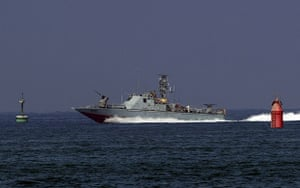 Gaza convoy attack: An Israeli army military vessel enters the southern navy port of Ashdod