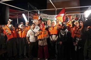 Gaza convoy attack: Pro-Palestinian activists from Turkey onboard the Mavi Marmara