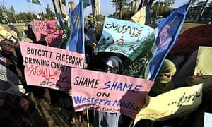 Hardliners protest in Islamabad to support the Facebook ban