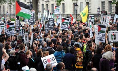 Gaza protesters in London