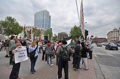 Protestors in Bristol. Image: Jon Wiltshire