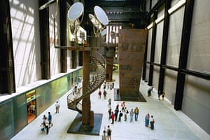 Sculptures at the Tate Modern art gallery in London