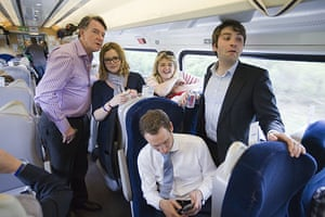 Martin Argles election: Labour team on a train from the North east to London