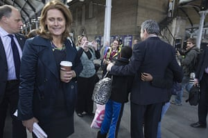 Martin Argles election: 1 May: Sarah Brown accompanies her husband during a visit to Newcastle