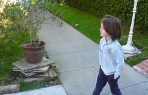 show and tell: Shannyn: child on way to school