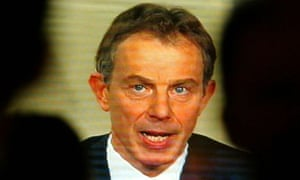 Tony Blair addresses the nation at the start of the Iraq war in March 2003