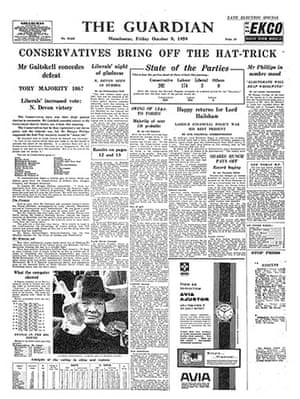 General election fronts: 6 - 1959 front page