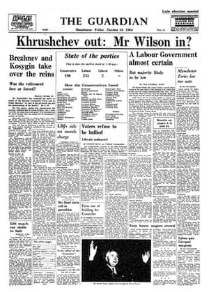 General election fronts: 7 - 1964 front page
