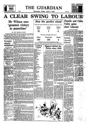 General election fronts: 8 - 1966 front page