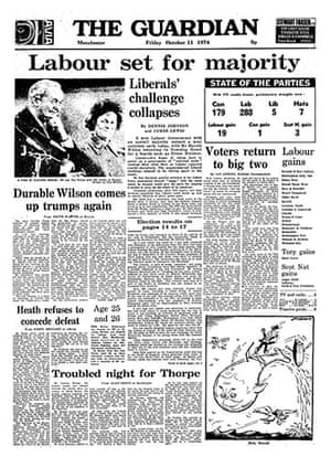General election fronts: x12 - October 1974