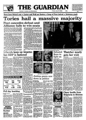 General election fronts: x13 - 1983