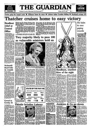 General election fronts: x14 - 1987