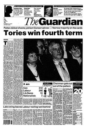 General election fronts: x15 - 1992